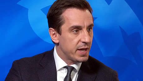 Gary Neville responds to Gareth Bale's goal in Real Madrid v Liverpool FC