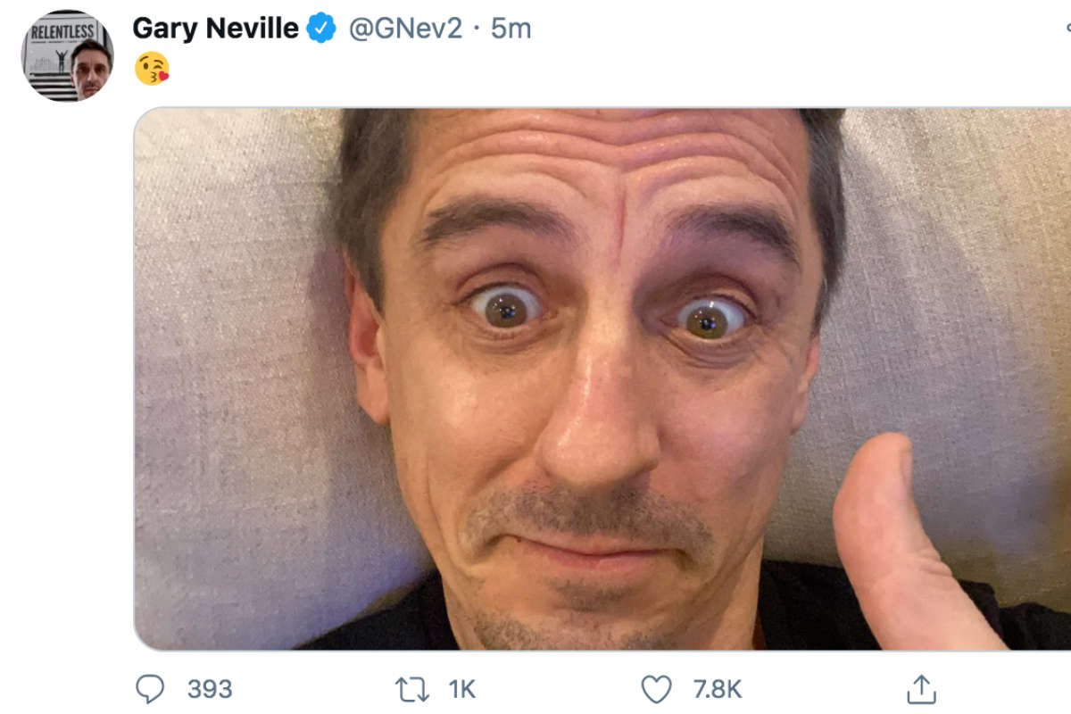 Sky Sports pundit Gary Neville (Photo: Gary Neville/Twitter)