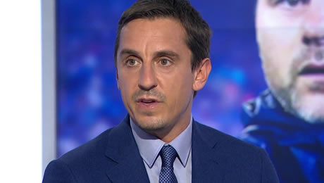 Gary Neville reacts to Cesc Fabregas' display in Chelsea's 3-0 win over Middlesbrough
