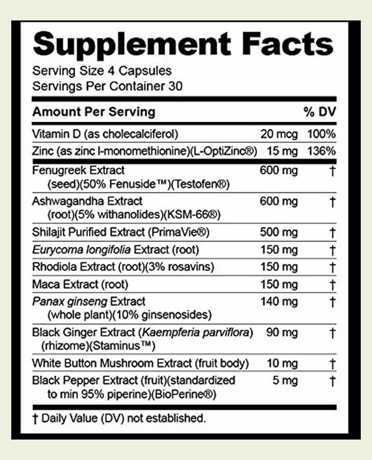 Image result for NUGENIX INGREDIENTS