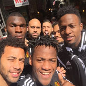 Origi snaps selfie with Spurs star