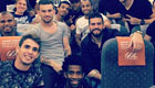 Photo: Chelsea star Oscar poses with Brazil squad on plane after win