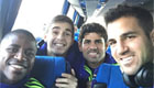 Chelsea star posts selfie with Costa and Fabregas