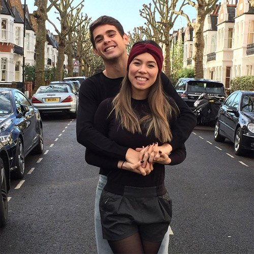 Photo: Chelsea's Oscar Chills With His Wife After Liverpool Win