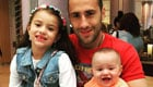 Photo: Arsenal goalkeeper relaxes with family ahead of Chelsea clash