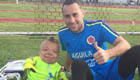 Arsenal star meets inspiration Colombia fan