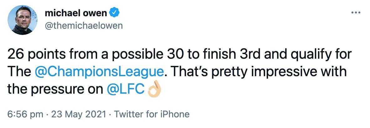 Liverpool FC michael owen