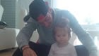 Photo: Mesut Ozil enjoys some family time after Arsenal's win over Man Utd
