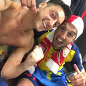 Arsenal stars celebrate FA Cup win