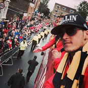 Ozil sends message to fans on victory parade