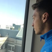 Ozil looks pensive on Germany duty