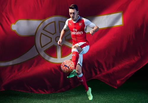 Photos: Sanchez and Ozil model Arsenal's new Puma home kit ...