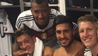 Photo: Mesut Ozil joins Liverpool and Man Utd stars for dressing room snap