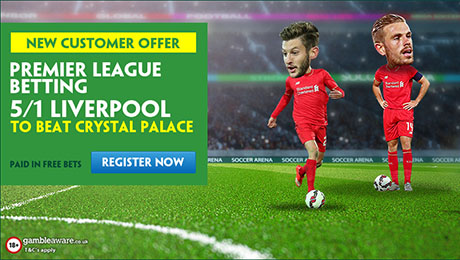 Crystal Palace v Liverpool betting: 5/1 enhanced odds and prediction