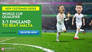 England v Malta: Enhanced odds, prediction and betting tips