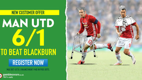 Blackburn Rovers v Man United: Win £60 from £10 on Man United, TV channel and prediction