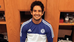 Photo: Pato all smiles in training at Cobham ahead of Chelsea v Newcastle