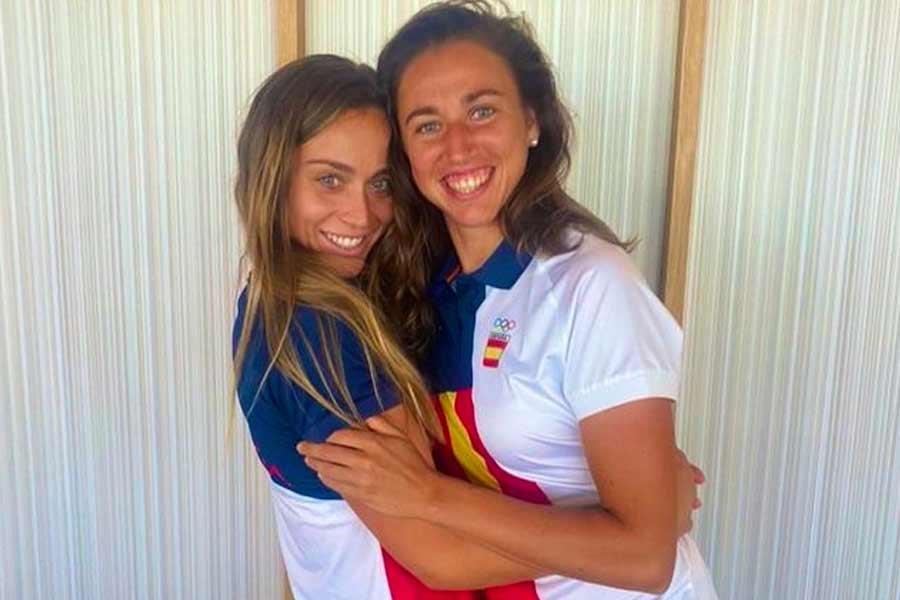 Paula Badosa and Sara Sorribes