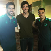 Fabregas and Pedro reunited with old friend