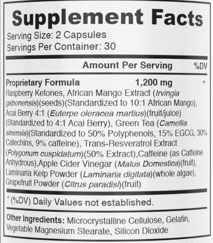 PhenELITE ingredients