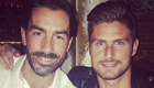 Photo: Arsenal legend Robert Pires enjoys dinner with Olivier Giroud