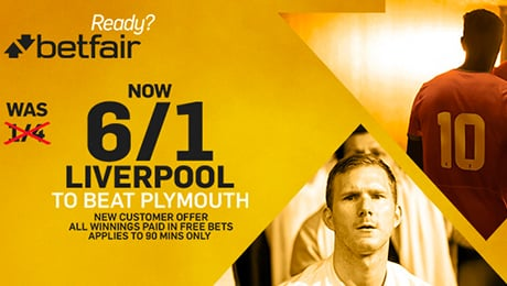 Plymouth v Liverpool: 6/1 enhanced odds, kick-off time, TV channel and prediction