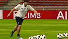 Watch Pochettino smash crossbar challenge