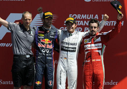 british grand prix podium