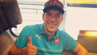 Photo: Lukas Podolski all smiles as Arsenal board Eurostar