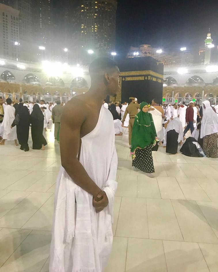 Photo: Man United Star Paul Pogba Travels To Mecca To Mark