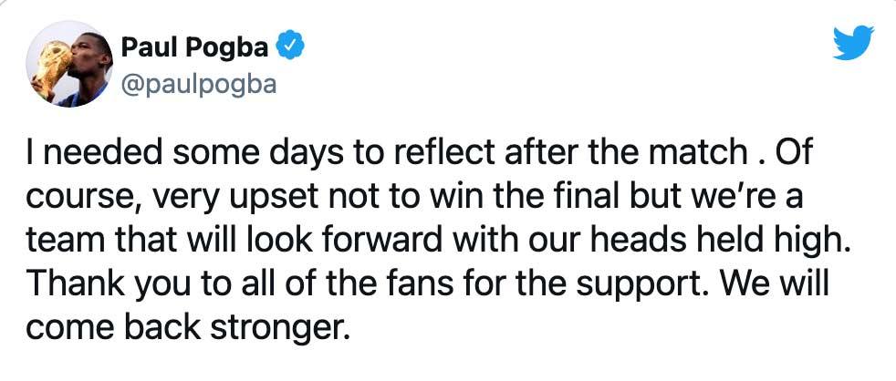 Paul Pogba tweet