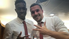 PHOTO: Podolski salutes hat-trick hero Welbeck