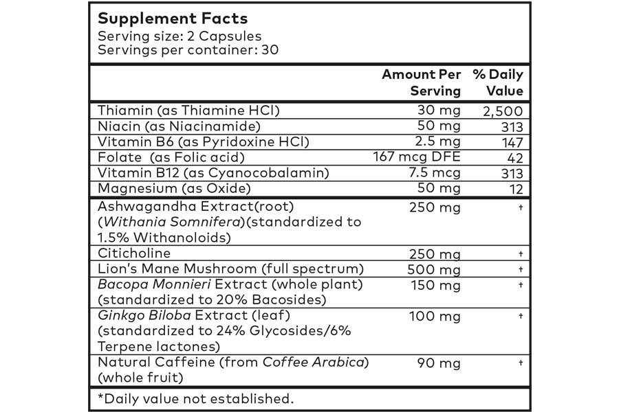 The Powher Nootropic supplement ingredients formula, as shown on the official website at the time of writing