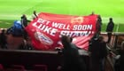 Photo: PSV fans make classy gesture for Man Utd's injured Luke Shaw