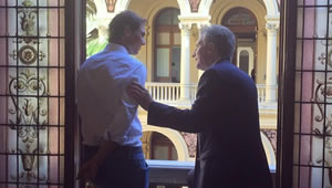 Photo: Rafael Nadal meets president of Argentina ahead of Buenos Aires tournament
