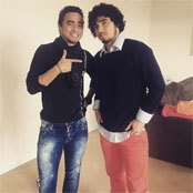 Rafael poses for snap with his hero