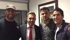 Ramsey celebrates Man Utd win with famous friends