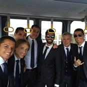 Photo: Cristiano Ronaldo, Real Madrid stars head to Liverpool… on a bus