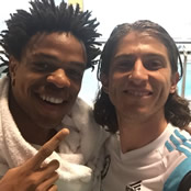 Luis snaps selfie with Remy after training