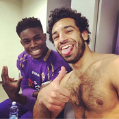 Richards snaps selfie with Chelsea star Salah