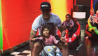Rojo goes 'fast and furious' on bumper karts