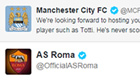 Roma claim social media win over City as tweet backfires