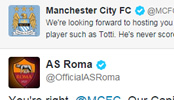 Roma claim social media victory over Man City as tweet backfires