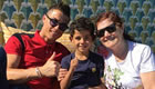 Photo: Cristiano Ronaldo relaxes with his son and mother during break