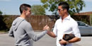 PICTURE: Cristiano Ronaldo welcomes Gareth Bale to Madrid