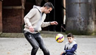 Watch Van Persie take on his son in new ad