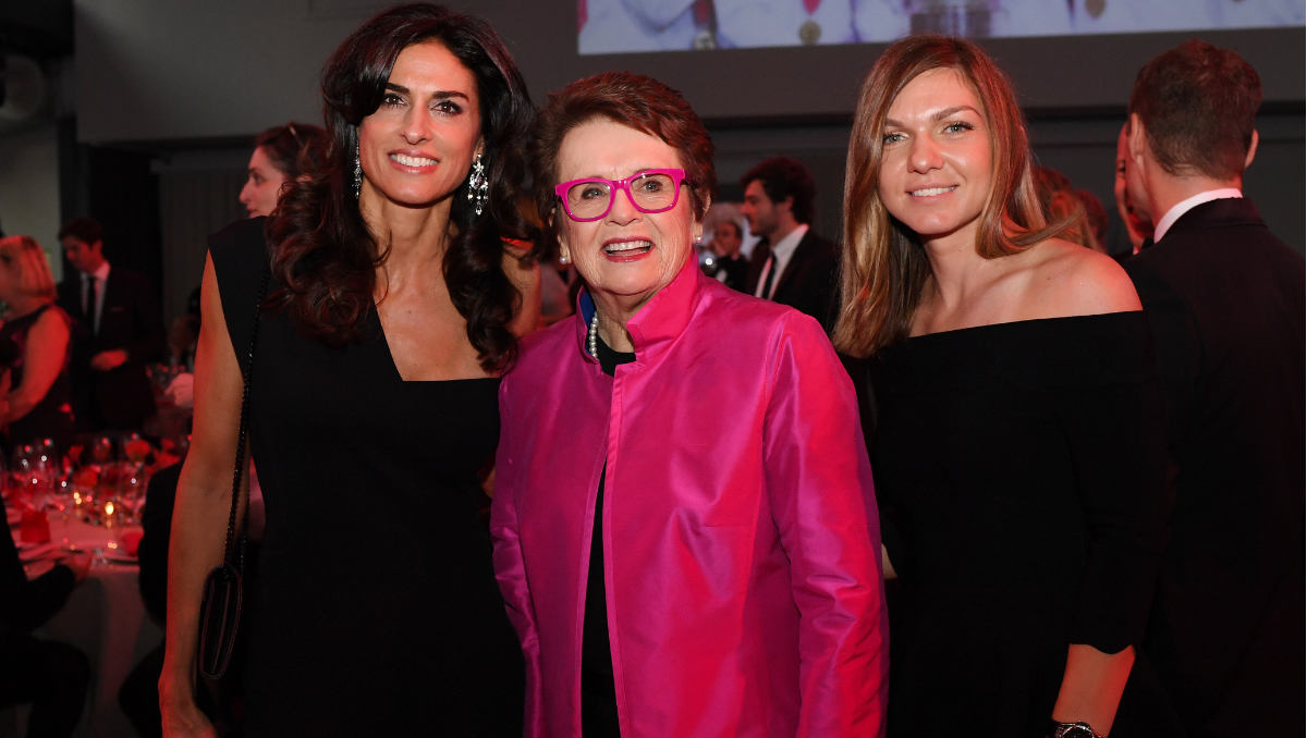 Left to right, Gabriela Sabatini, Billie Jean King, and Simona Halep (Photo: ITF/Paul Zimmer)