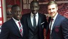 Photo: Liverpool star Mamadou Sakho all smiles with Bordeaux rivals