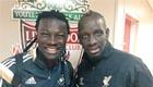 Photo: Liverpool defender Mamadou Sakho meets Swansea 'bro'