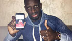 Sakho all smiles with Liverpool star Benteke
